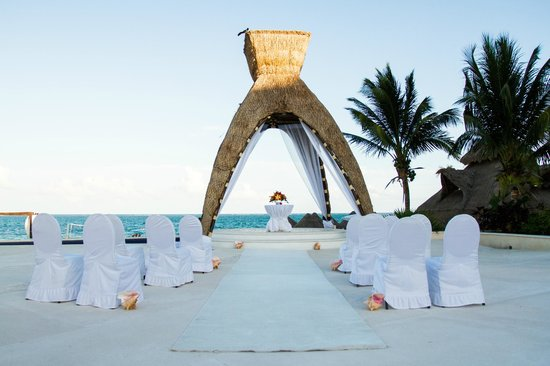 Dreams Riviera Cancun Resort Spa Our Wedding Gazebo Set Up