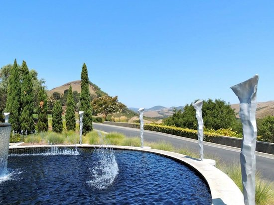 Artesa Vineyards & Winery: One of the fantastic fountains & views