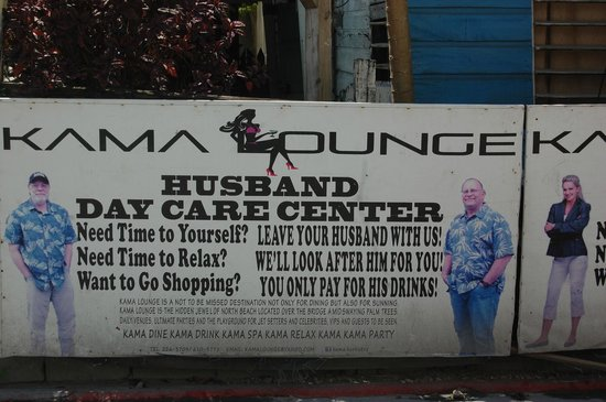 Victoria House : Ad. seen in San Pedro for  Husband Daycare (Bar)!!