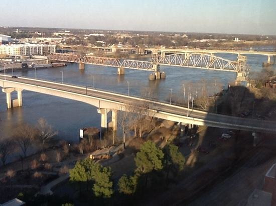 Little Rock Marriott: the view from room 1817