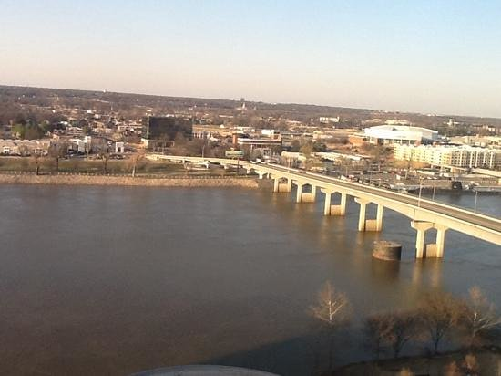Little Rock Marriott: th view from room 1817