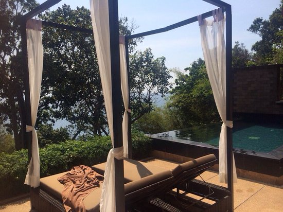 Paresa Resort Phuket : Is this sea view pool villa??? I can only see trees