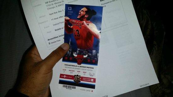 United Center : my game ticket