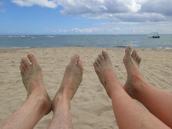 Iberostar Costa Dorada : Feet on beach