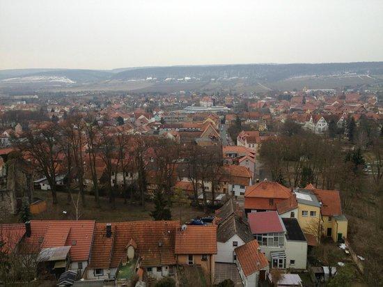 Hotel Residenz Bad Frankenhausen: Paisagem vista da janela do meu quarto