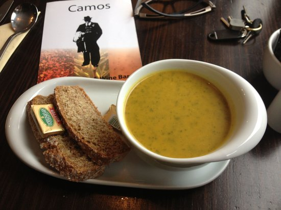Camo's: Butternut squash and spinach soup. Yum!
