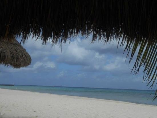 Melia Vacation Cozumel Golf - All Inclusive: palapa cover while the rain was coming down