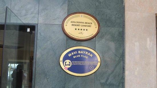 Alva Donna Beach Resort Comfort: Вывеска отеля :)