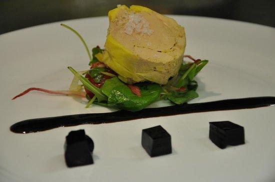 Restaurant U Johana: foie gras s vinným želé