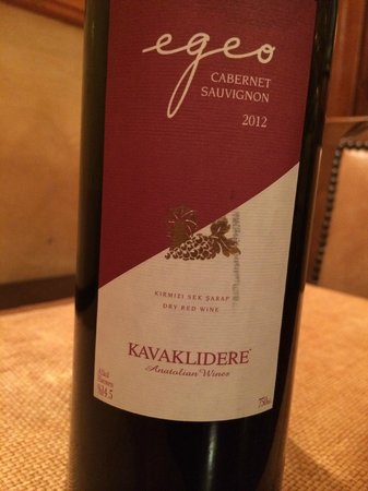 House of Medusa : a 2012 Kavaklidere cabernet sauvignon from Anatolia, very smooth