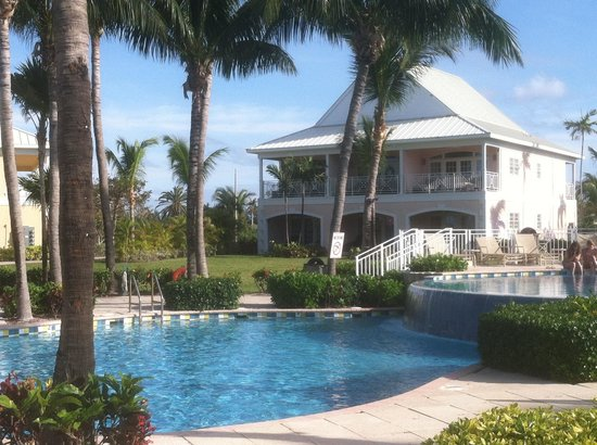 Old Bahama Bay: Poolside with Villa in background
