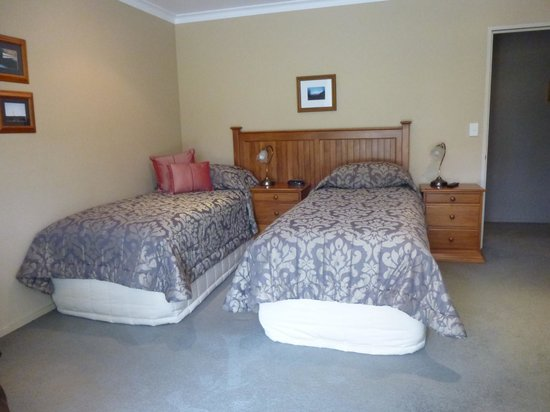 Misty Peaks: twin room with double bed headboard