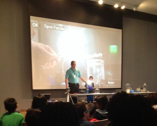 Perot Museum of Nature and Science: Fire and Ice Experiment