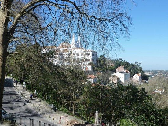 Palacio Nacional de Sintra: El Palacio desde la carretera de entrada