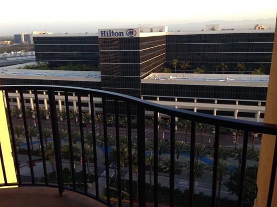 Anaheim Marriott : View from our balcony, you can see Disney fireworks