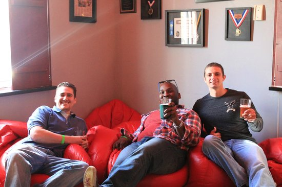 Southern Beer Tours: A few guests hanging out at Red Hare