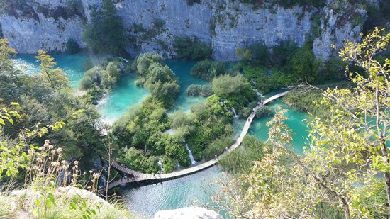 Plitvice Lakes National Park : View from the top after the 6-hour hike