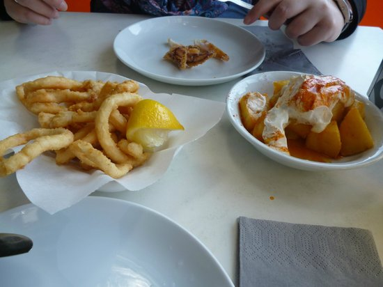 The Chipiron: Calamaris & Patatas Bravas