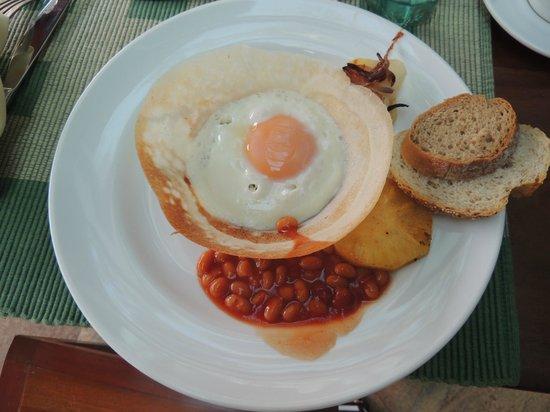 Cinnamon Lodge Habarana : köstliche Egghoppers zum Frühstück