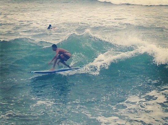 Bay View Hotel: We also have nice surfbreaks right in front of our location, and boards for rent!