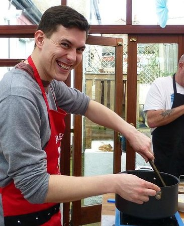 Spice Monkey Cookery School: Yours truly!