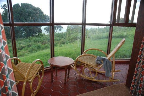 Ngorongoro Sopa Lodge : z pokoju