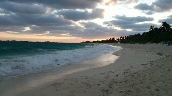 Sunrise Beach Clubs and Villas: Morning walk on the beach, approx 7:45 a.m., entirely secluded