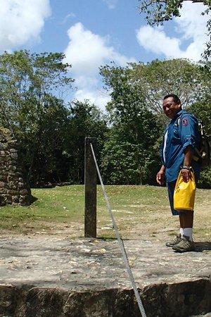 Belize Nature Travel: Luis at Lamanai