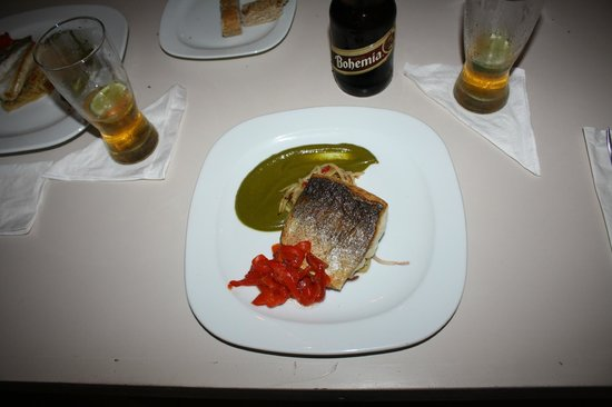 Unico: Grilled Red Snapper, cooked to perfection.