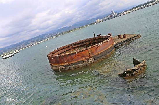 USS Arizona Memorial/World War II Valor in the Pacific National Monument: The rusted Arizona