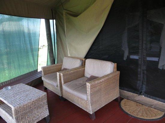 Masek Tented Camp: Enclosed patio