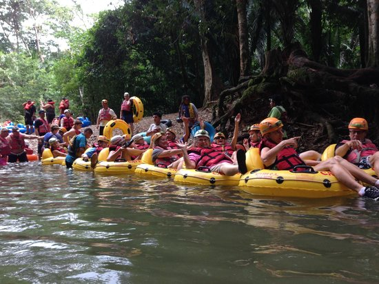Cave Tubing.Bz: Our group! 37 of us!  They took good care of us!