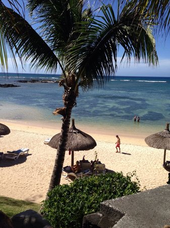 Canonnier Beachcomber Golf Resort & Spa: The view of the beach from our sea view rooms