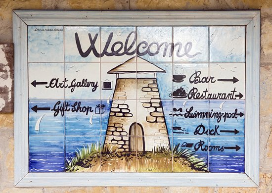 Freetown, Antigua: sign