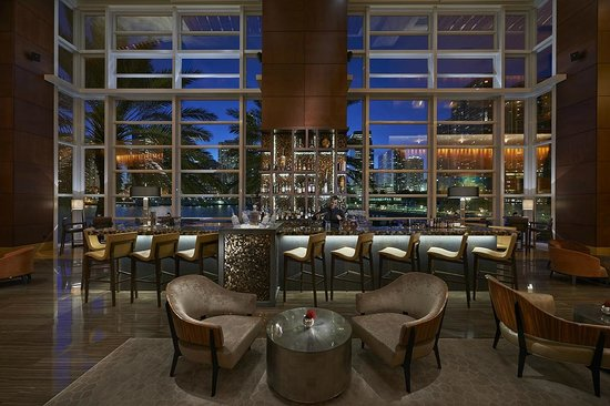 Photo of American Restaurant MO Bar + Lounge at Mandarin Oriental at 500 Brickell Key Dr, Miami, FL 33131, United States