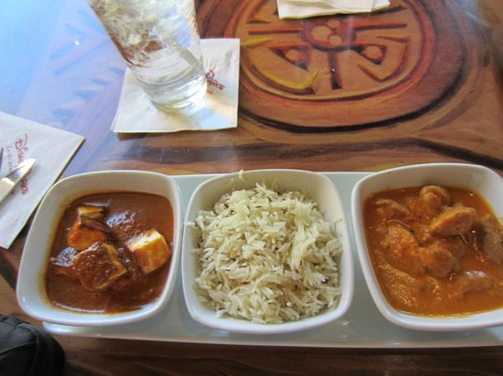 Boma - Flavors of Africa: indian cheese, basmanti rice, fish