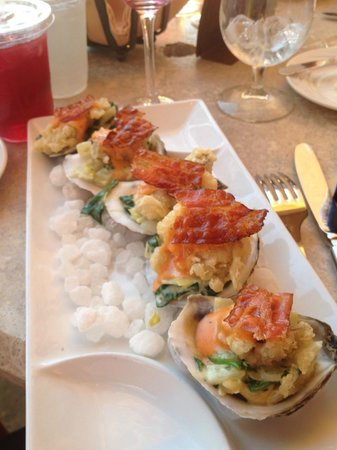 Caretta on the Gulf: Oyster BLT appetizer