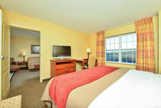 Comfort Inn & Suites: 1 bedroom Suite bedroom