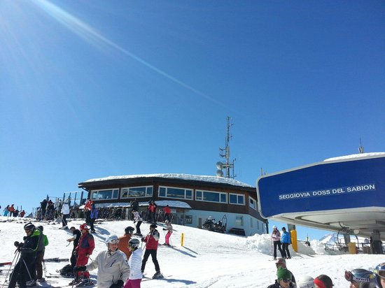 Rifugio Doss del Sabion: Vista esterna inverno