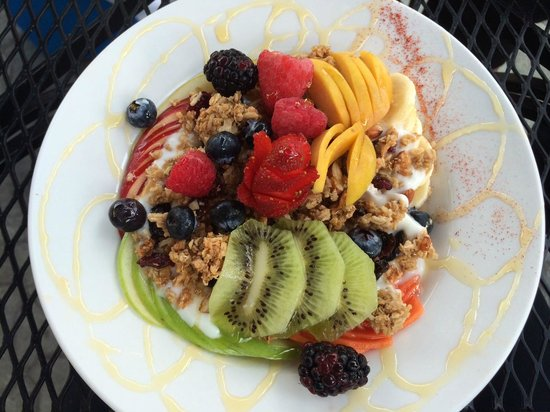 Rooster Cafe : The Granola Trio at Roosters Restaurant on Isla Mujeres