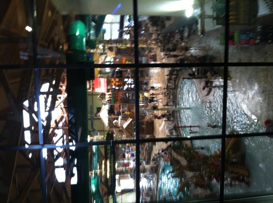 Great Wolf Lodge: View of water park from window in lobby area