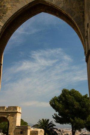 Castell de Bellver: View