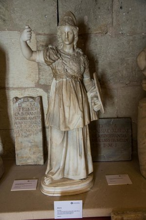 Castell de Bellver: Statue of Minerva