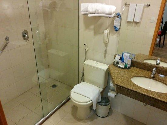 Melia Brasil 21: Vista bo box e vaso no banheiro