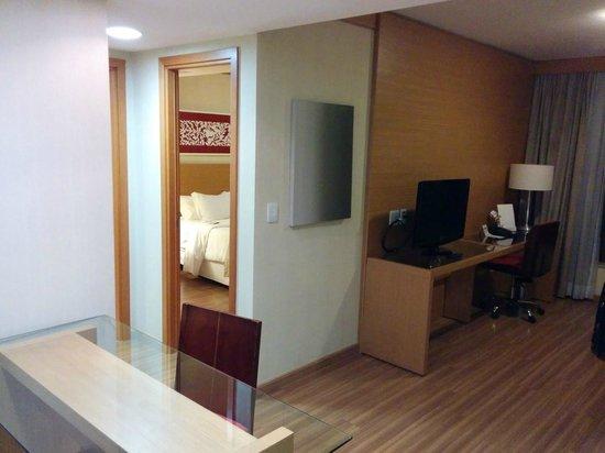 Melia Brasil 21: Vista do quarto à partir da sala
