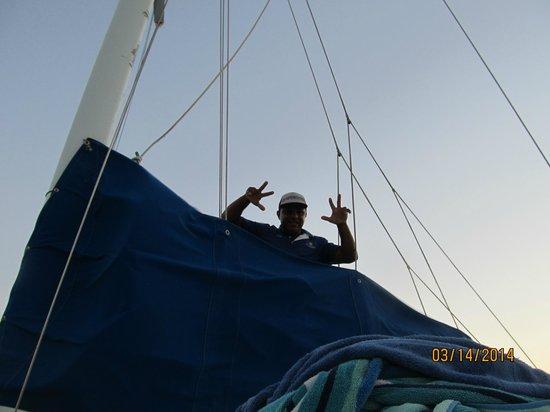 Blue Dolphin Sailing : Staff hard at work!!!