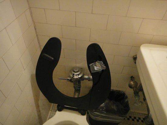 Gadsden Hotel: Tolet seat with duck tape