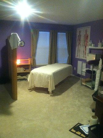California Total Body Massage: my 200 sq ft work space