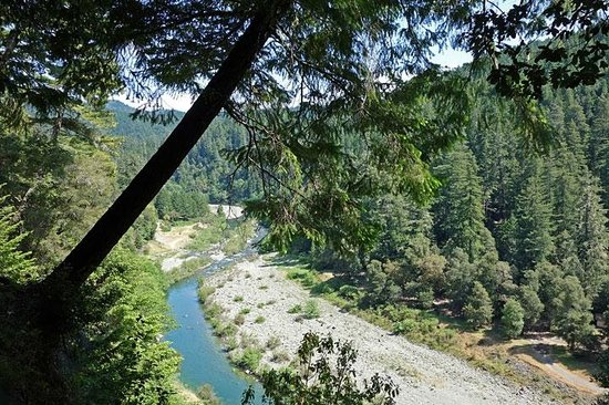 Leggett, CA: Another killer view of the Eel river at Standish Hickey