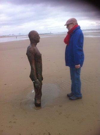 Britannia Prince of Wales - Southport : Facing off the Gormleys at Crosby Beach